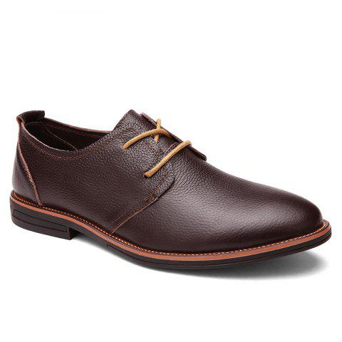 Cheap Business Leather Shoes Leisure Lace-Up