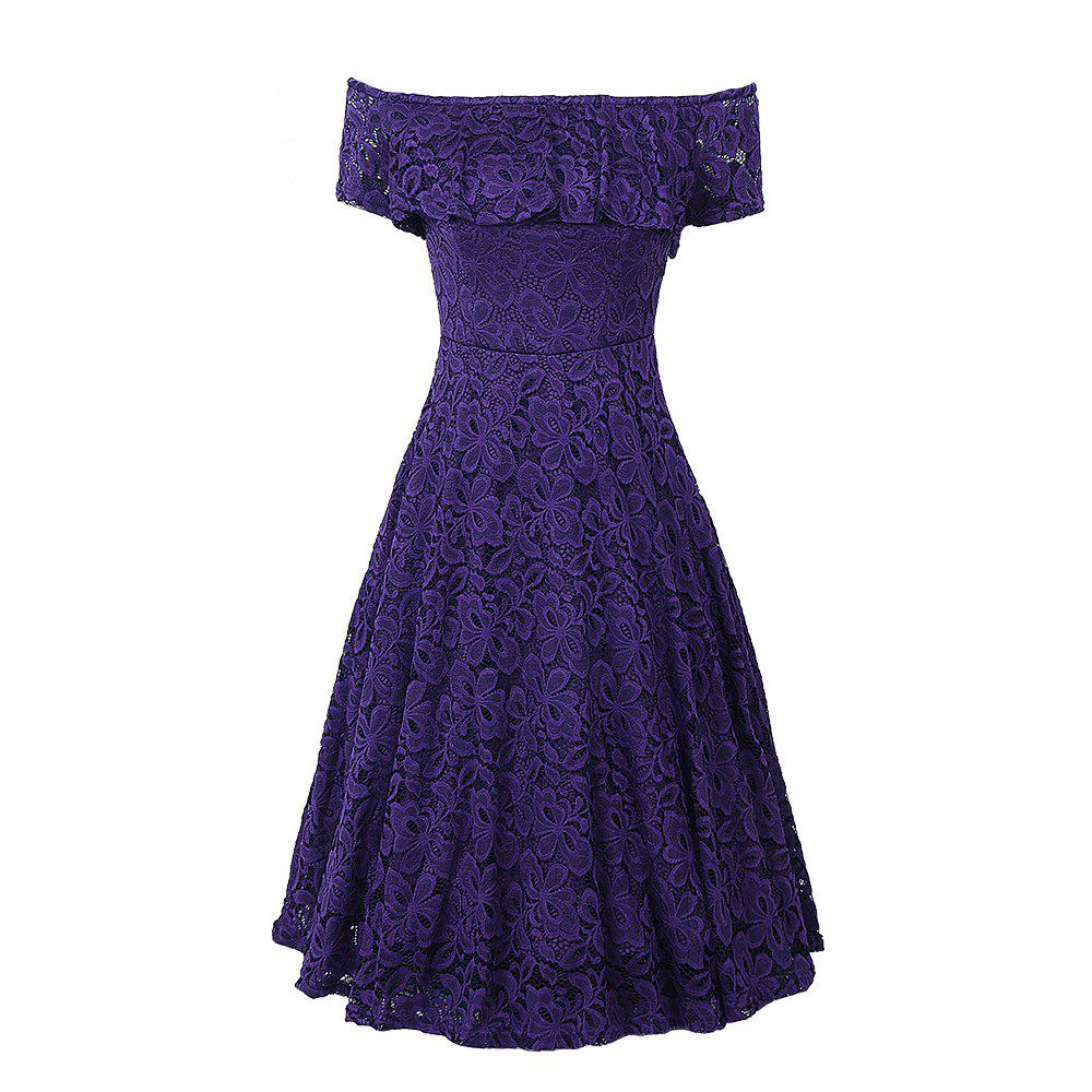 bce972eb565d Fancy New Style Summer Off Shoulder Floral Lace Party Swing Women Cascading  Ruffle Lace Casual Formal