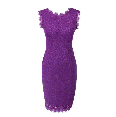 Discount New Style Summer Fashion Elegant Women Embroidery Sexy Lace  Sleeveless Casual Evening Party  Dress