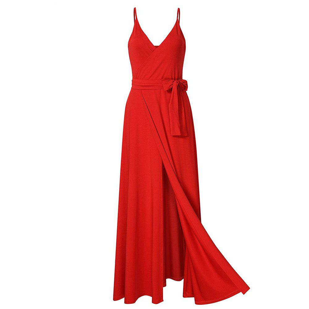 Latest New Velvet Long Evening Party  Women Wrap Spaghetti Strap Sexy Ladies Backless Maxi Elegant Dress