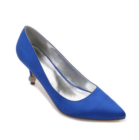 Buy 17767-8 Women's Wedding Shoes Comfort Basic Pump Ankle Strap Spring