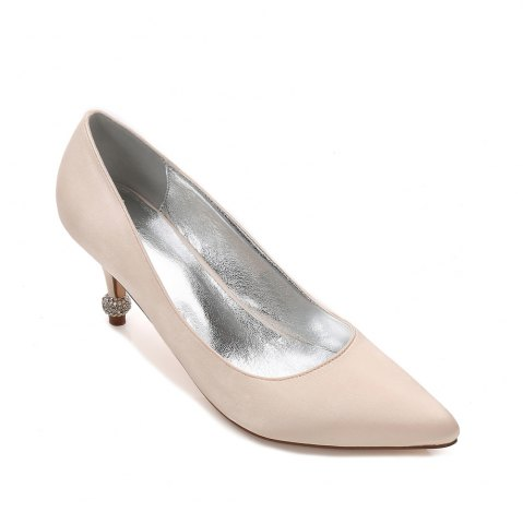 Trendy 17767-8 Women's Wedding Shoes Comfort Basic Pump Ankle Strap Spring