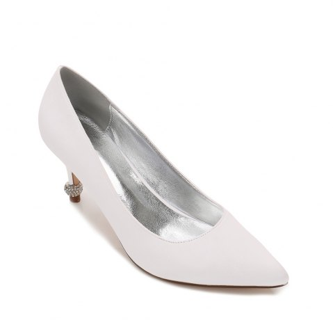 Hot 17767-8 Women's Wedding Shoes Comfort Basic Pump Ankle Strap Spring