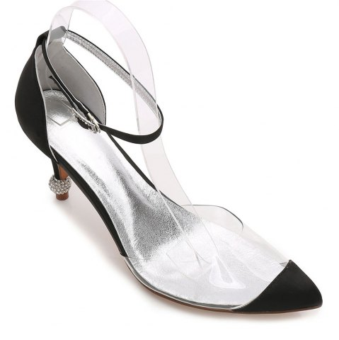 17767-21 Chaussures pour femmes chaussures de mariage bout pointu strass chaussures