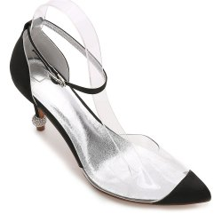 17767-21 Women's Shoes Wedding Shoes Pointed Toe Rhinestone Shoes -
