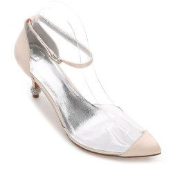 17767-21 Chaussures pour femmes chaussures de mariage bout pointu strass chaussures -