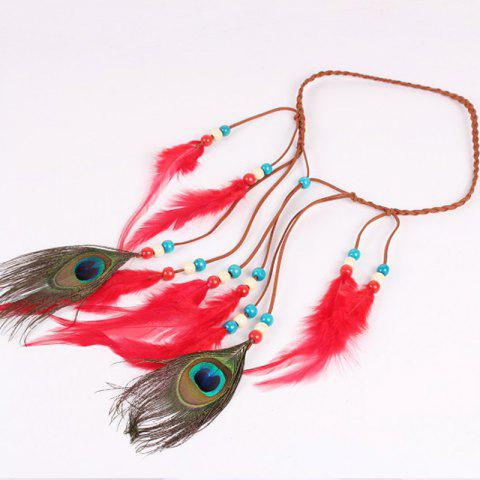 Outfits Solid Color Feather Headdress Color Indian Hot Tourist Attractions Hot Headband Photography Accessories