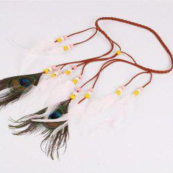 Solid Color Feather Headdress Color Indian Hot Tourist Attractions Hot Headband Photography Accessories -