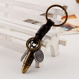 Men's Sculpt Bullet Shaped Woven Unique Key Rings -