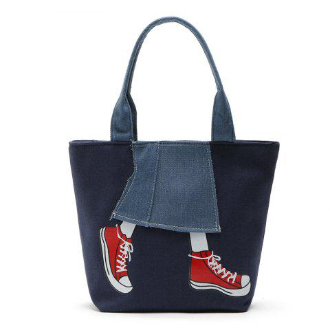 New Canvas Girl Jean's Skirt Design Women Handbag Shouder Bag