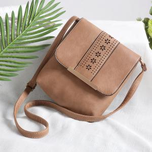 Europe Style Hollow Out Handbags Women PU Leather Crossbody Shoulder Bag -