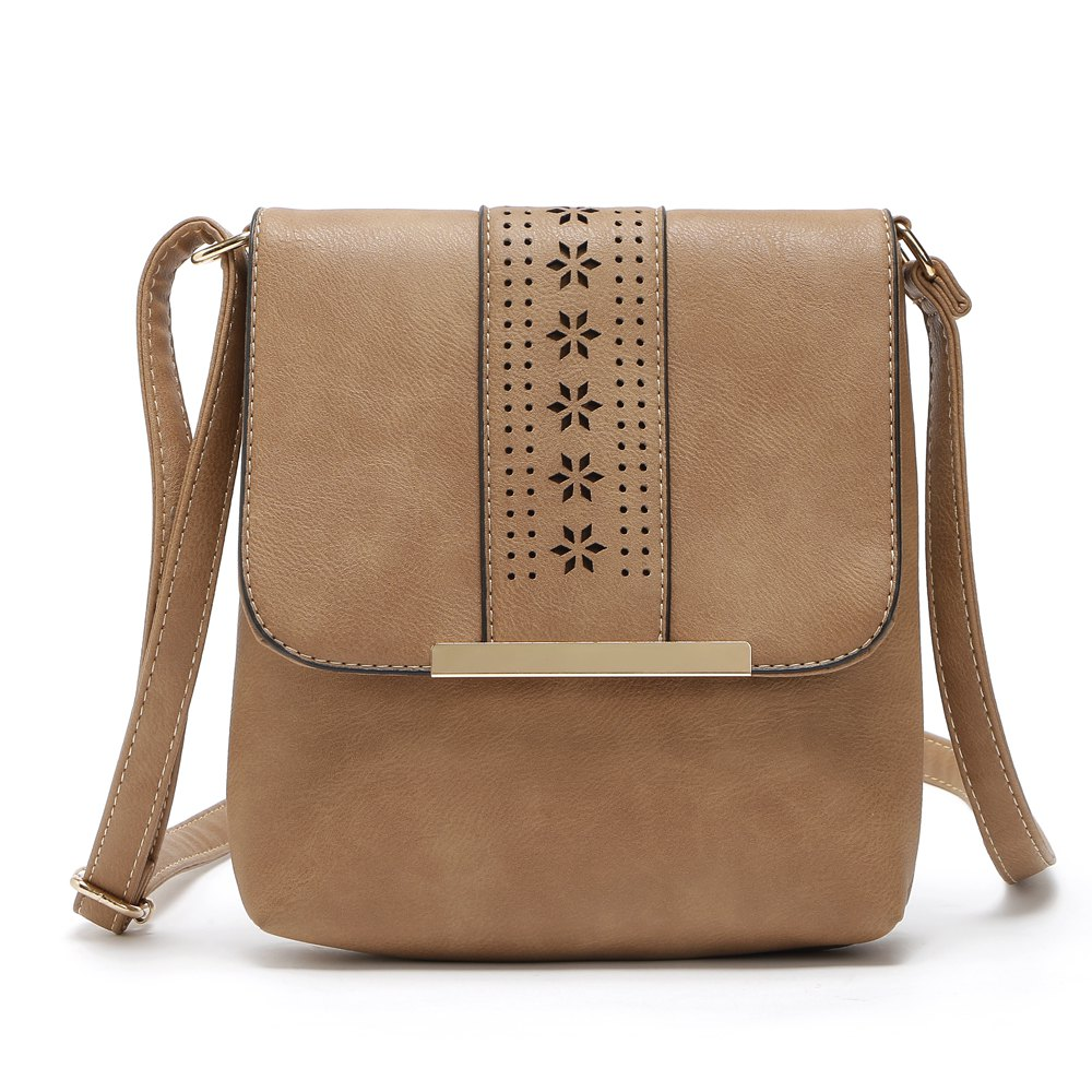 Trendy Europe Style Hollow Out Handbags Women PU Leather Crossbody Shoulder Bag