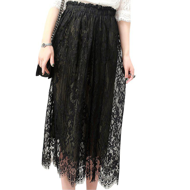 Trendy Fashion Pure Lace Bust Skirt