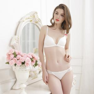 Sexy Lace Underwear Comfortable Thin Bra Set No Rims -