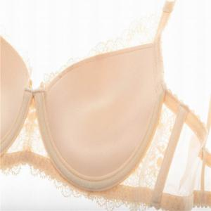 Women Push Up Deep V Lace Bra Sexy Lace Underwear Suits -