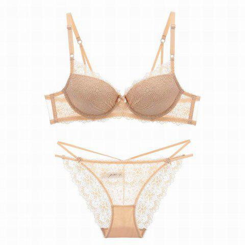 Affordable Women Push Up Deep V Lace Bra Sexy Lace Underwear Suits