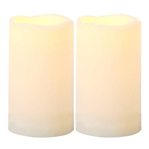 Discount Set of 2pcs LED candle with Timer for Outdoor Using