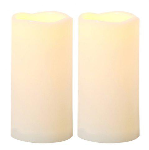 New Set of 2pcs Flameless LED Candle with Automatic Timer for Outdoor Using