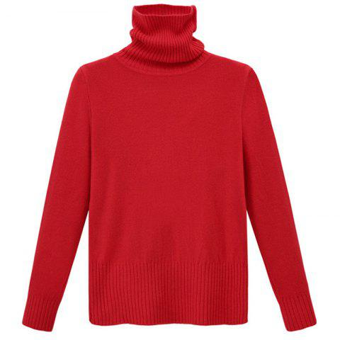 New Simple Fashion Style Thickened Turtle Neck Long Sleeve Pullover