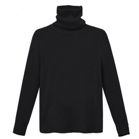 Buy Simple Fashion Style Thickened Turtle Neck Long Sleeve Pullover
