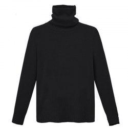Simple Fashion Style Thickened Turtle Neck Long Sleeve Pullover -