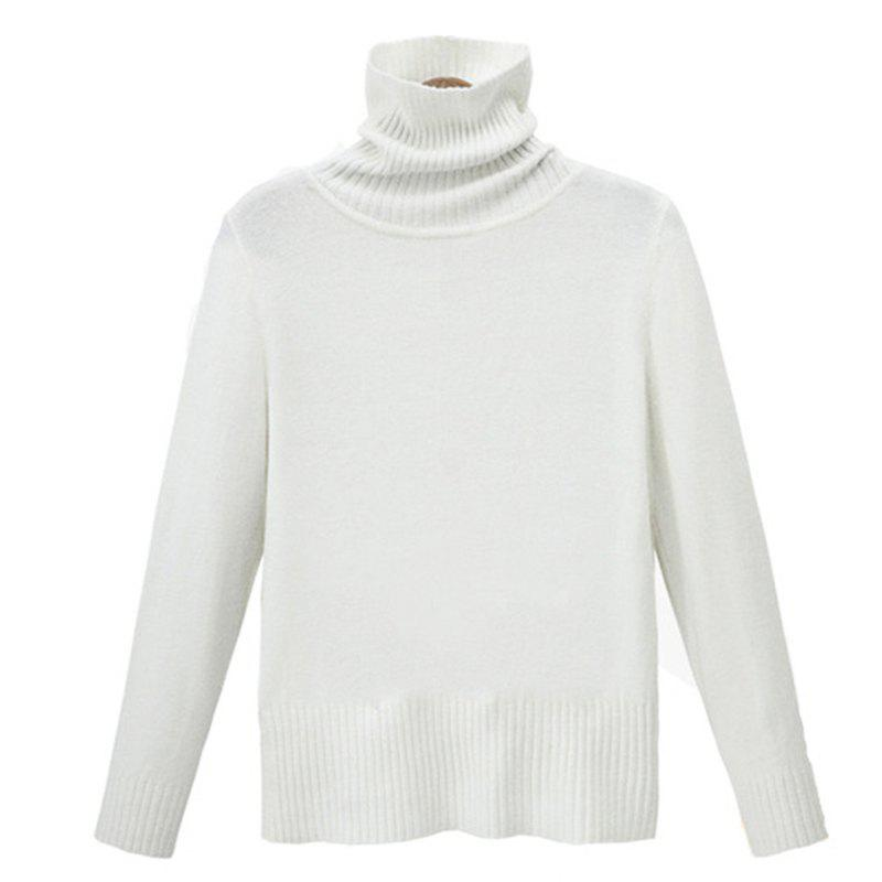 Best Simple Fashion Style Thickened Turtle Neck Long Sleeve Pullover