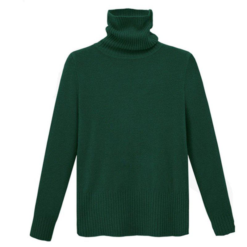 Latest Simple Fashion Style Thickened Turtle Neck Long Sleeve Pullover