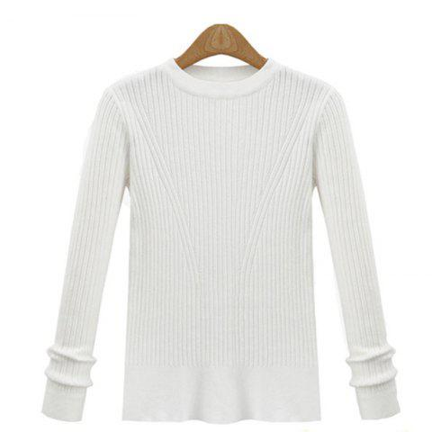 Sale Leisure Fashion Style Long Sleeve Self Cultivation Pullover Sweater