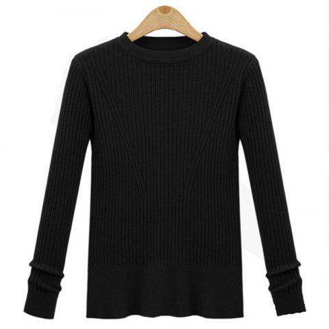 Trendy Leisure Fashion Style Long Sleeve Self Cultivation Pullover Sweater
