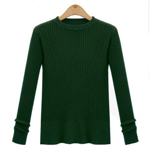 Hot Leisure Fashion Style Long Sleeve Self Cultivation Pullover Sweater