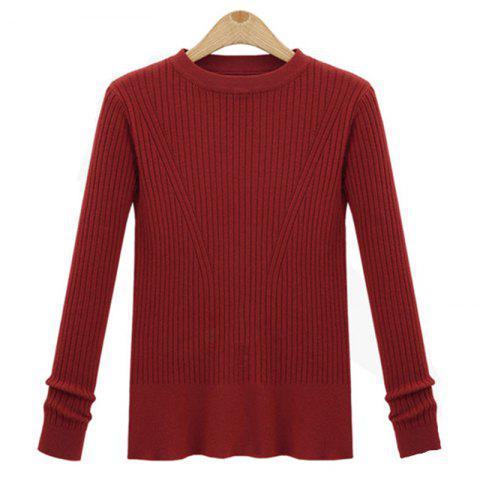 Cheap Leisure Fashion Style Long Sleeve Self Cultivation Pullover Sweater