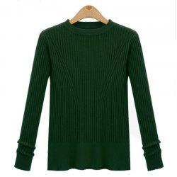 Leisure Fashion Style Long Sleeve Self Cultivation Pullover Sweater -
