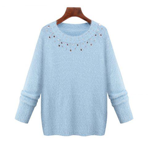 Outfits Europe and The United States New Imitation Mink Winter Sweater Long Sleeved Knit Shirt