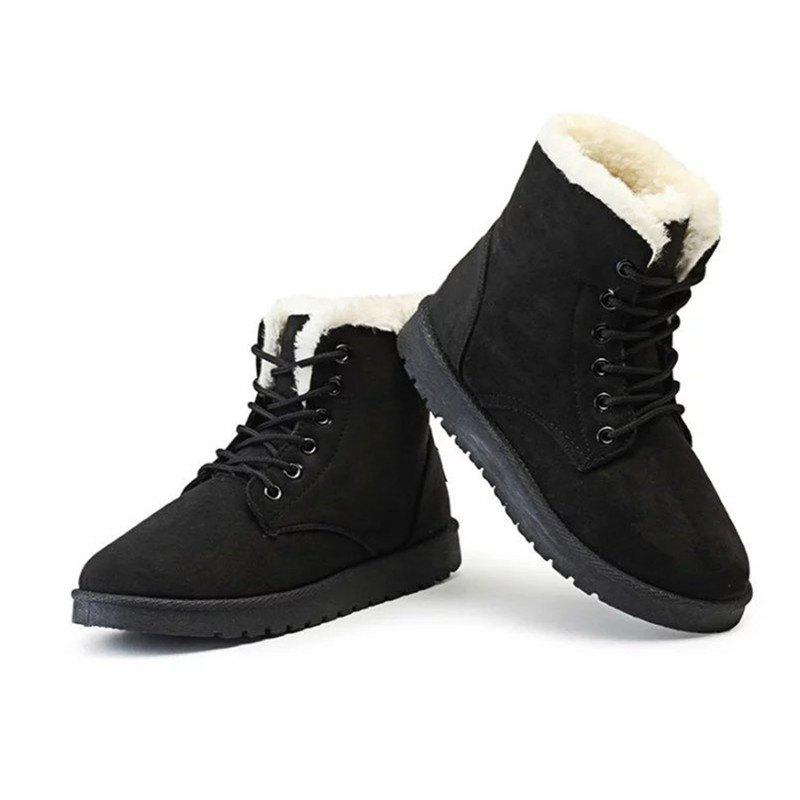 good quality fast delivery arrives TNND New Winter Warm flat comfortable snow boots women lace up shoes