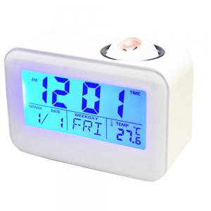 Sound Controlled Backlight Projection Calendar Digital Thermometer LED Clock Snooze Mute Voice -