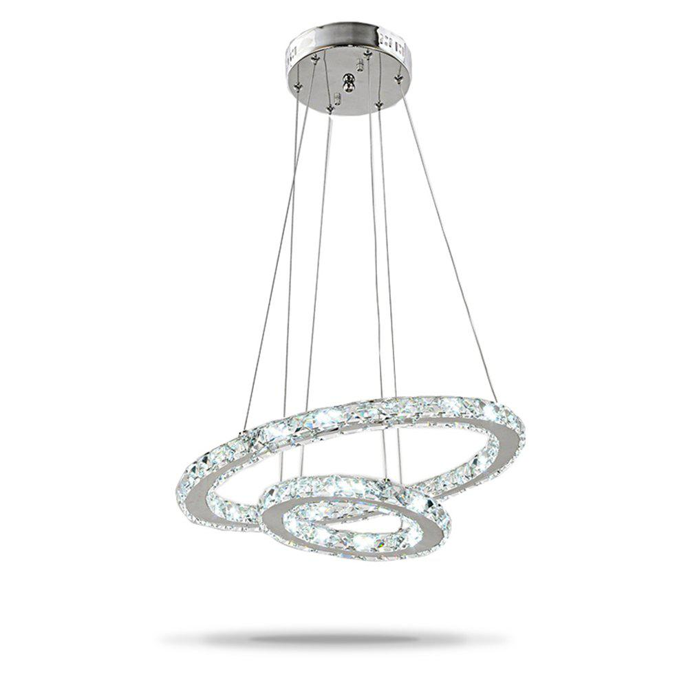 Fancy Led Pendant Lights Dining Room Chandeliers Light Fixtures Cord Hanging Crystal Stainless Steel Chrome Modern