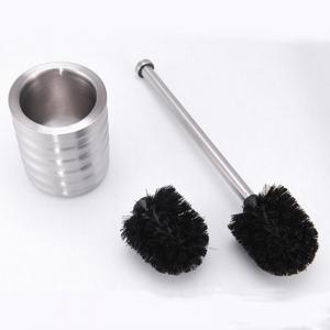 Stainless Steel Toilet Brush Bathroom Cleaning Brush Base WC Cleaning Accessory -