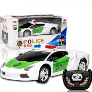 Wireless Remote Control RC Police Car Truck Kid Toy Birthday Gift -