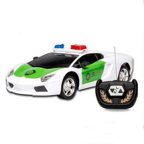 Outfit Wireless Remote Control RC Police Car Truck Kid Toy Birthday Gift