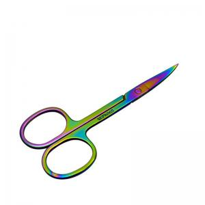 KESMALL CO190 Stainless Steel Eyebrow Scissor Mini Hair Scissors Makeup Tools 1pc -