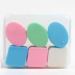 KESMALL CO418 BB Cream Powder Sponge Beauty Cosmetic Puff Face Makeup Tools 6Pcs/Box -