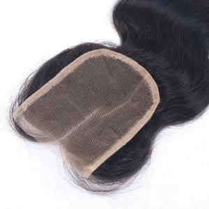 Middle Part Body Wave Virgin Brazilian Human Hair Lace Closure with Baby Hair 4x4 Bleached Knots Closure Hairpiece for Women -