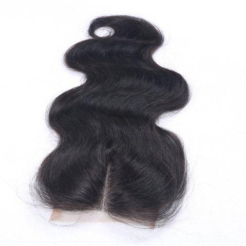 Unique Middle Part Body Wave Virgin Brazilian Human Hair Lace Closure with Baby Hair 4x4 Bleached Knots Closure Hairpiece for Women
