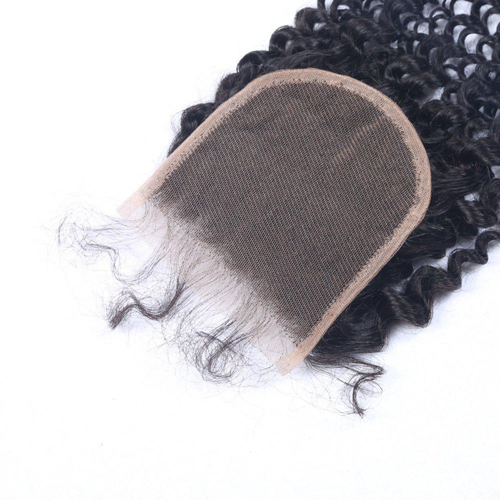 Best 4x4 Inches Virgin Brazilian Human Hair Swiss Lace Kinky Curly Closure Natural Color Free Part Hairpiece Closures for Women