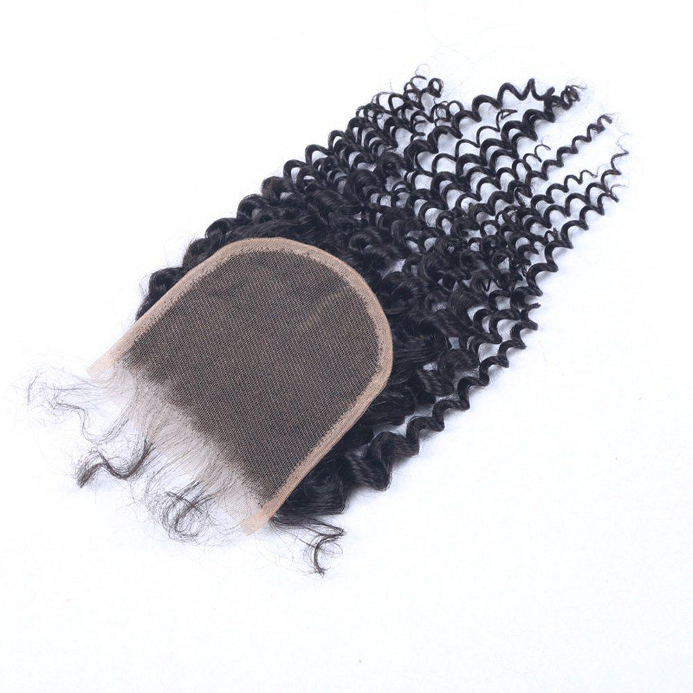 Latest Afro Kinky Curly Swiss Lace Closure 100% Human Hair Brazilian Virgin Natural Black 4x4 Closures Can Be Dyed or Bleached