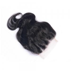 100% Human Hair Virgin Brazilian Body Wave Lace Closure Three Wavy Part Natural Black Bleached Knots Closures with Baby Hair -
