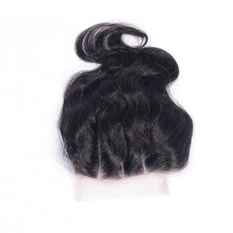 Affordable 100% Human Hair Virgin Brazilian Body Wave Lace Closure Three Wavy Part Natural Black Bleached Knots Closures with Baby Hair