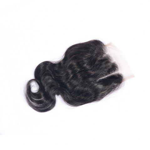 Shop Three Part Human Hair Swiss Lace Virgin Brazilian Body Wave Closure Bleached Knots Baby Hair Natural Color 4x4 Closures