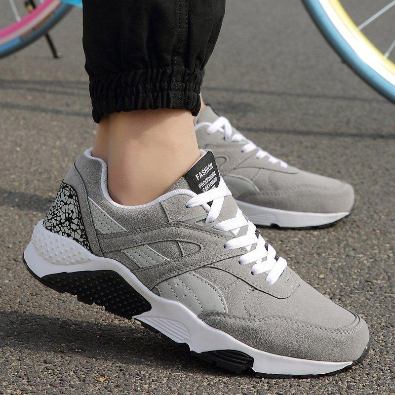 Cheap Men Casual Shoes Fashion Hip Pop Lace Men's Shoes Casual Sports Shoes Fashion Sneakers