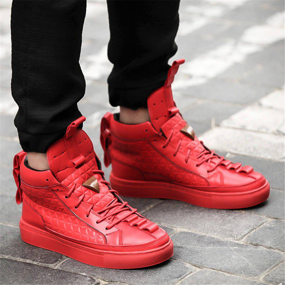 Fashion Men Winter Casual Hip Hop Sneakers,leisure Leather Sport Shoes
